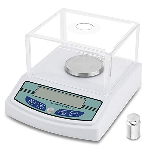 300 x 0.001g 1mg High Precision Laboratory Analytical Digital Balance Scale Digital Electronic Scientific Lab Instrument Precision Weighing, Accuracy Weighs Grams or Ounce with 200g Calibration Weight (Precision Pharmacy Balances)