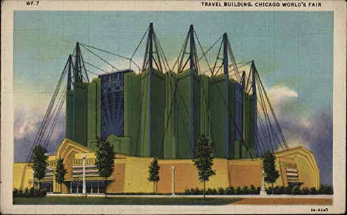 Travel Building 1933 Chicago World Fair Original Vintage Postcard