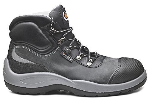 Base Protection - Scarpe alte antinfortunistiche in pelle ingrassata idrorepellente di alta qualità. Con puntale acciaio, lamina antiforo e isolamento al caldo. Categoria S3 HRO HI SRA. - Taglia: 43