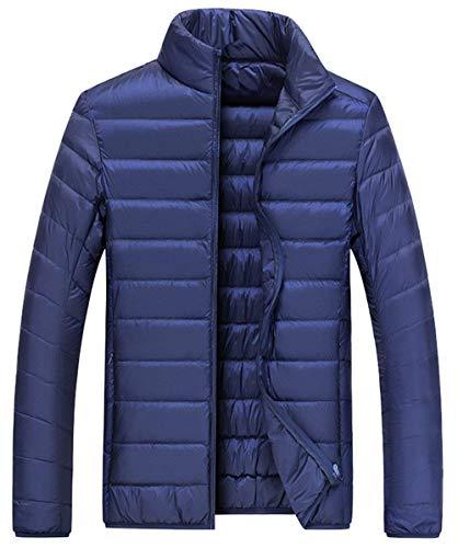 Solid Color Outdoor Comfortable Sizes Ultralight HX Winter Jacket Men Down Long Clothing Coat Coat Warm Down Down Dunkelblau fashion Owqa8BOZ