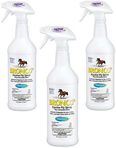 Equine Spray - (3 Pack) Farnam Home and Garden Bronco Equine Spray with Citronella Scent, 32-Ounce