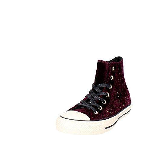 Converse Als Hi Kan Houtskool 1j793 Unisex-volwassenen Sneaker Dark Sangria