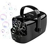 Glonova Party Bubble Machine Powered by Plug-in or Batteries, Two Bubbles Blowing Speed Levels, Pro Bubble Blower Machine Bubble Maker with High Output, Outdoor or Indoor Use, 13.5 oz Capacity