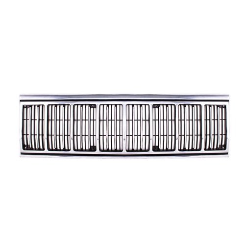 CarPartsDepot, Chrome Plated Plastic Frame Front Grille Black Billet Insert Horizontal Chrome Trim Moldings, 400-26863 CH1200196 55034046AB (Billet Molding)