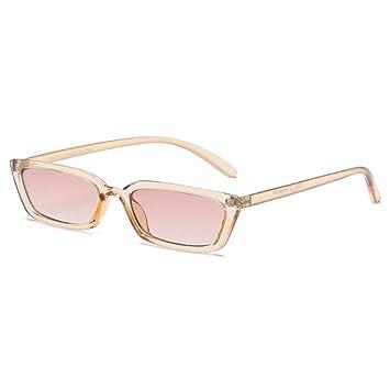 KUNHAN Gafas de sol Damas Rectangular Marcos Estrechos Gafas ...