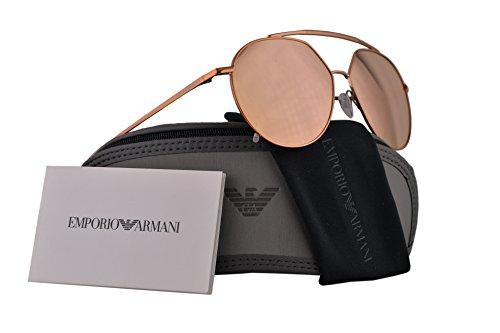 0 Sunglasses Copper w/Grey Mirror Rose Gold Lens 59mm 32194Z EA 2070 (Emporio Armani Rose)