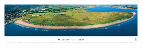 St Andrews Links - Inland Aerial - Blakeway Panoramas Unframed Golf Posters