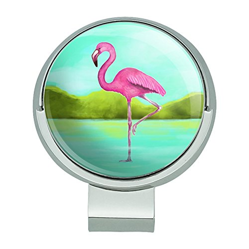 GRAPHICS & MORE Pink Flamingo in Water Golf Hat Clip with Magnetic Ball Marker