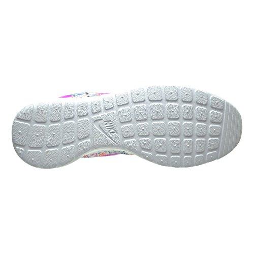 Nike Roshe En Utskrifts Prem Kvinner Sko Hvit / Fiolett / Total Crimson 749986-168