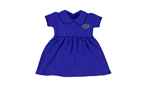 (Florida Gators NCAA Newborn Infant Baby Peter Pan Dress with Bloomer (0-3 Months) Royal,Blue)