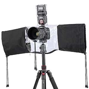Neewer® Protector antilluvia para cámaras , Funda cubierta de lluvia para cámara Digital SLR como Canon Rebel T5i T4i T3i T3 T2i T1i XS XSi XT XTi SL1, EOS 700D 650D 600D 550D 500D 450D 400D 350D 1100D 1000D 60D 60Da 50D 7D 5D series Nikon D7100 D7000 D5200 D5100 D5000 D3200 D3100 D3000 D90 D80