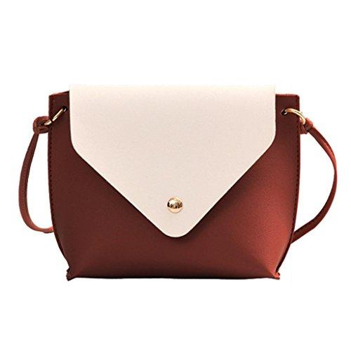 Leather Bag Shoulder Wine Crossbody Brown Satchel Fashion Bag School Bag Color Tote Messenger Hit Women xZ5FtqwFY