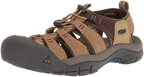Safari Mens Sandals - KEEN Men's Newport Hydro-M Sandal, Antique Bronze/Safari, 7.5 M US