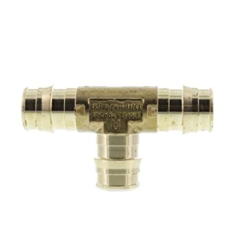 Uponor Wirsbo LF4707575 ProPEX LF Brass Tee, 3/4