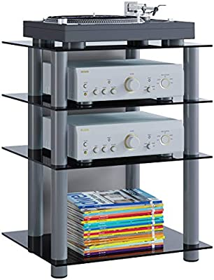 VCM 14105 Bilus-Mueble para Equipo de Alta fidelidad, Cristal de ...