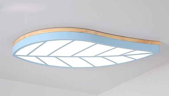 Schön FGSGZ Kinderzimmer Lampen Holz Deckenleuchte Moderne Bügeleisen Kreative Schlafzimmer  Leuchten Blau Dreifarbige Led 80 * 43