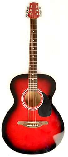 Mentor VT RDS Red Acoustic Electric Guitar Package w/ Instrucional DVD and Carry Bag Included