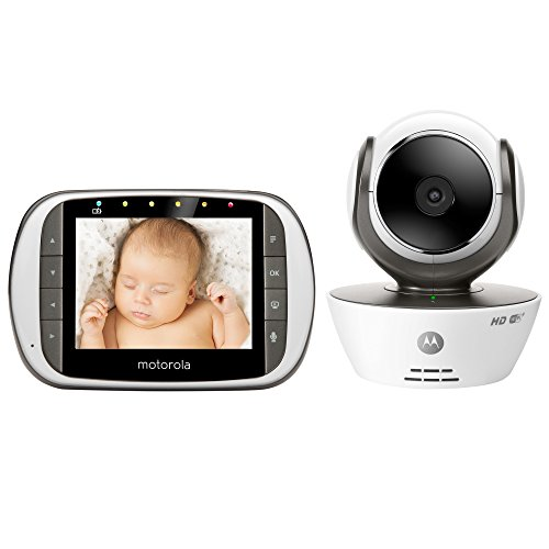Motorola MBP853CONNECT Dual Mode Baby Monitor with 3.5-Inch LCD Parent Monitor and Wi-Fi Internet...