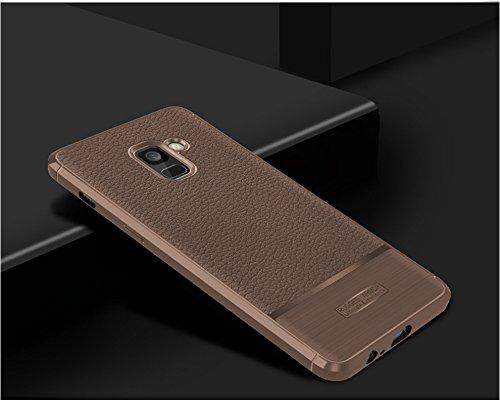 Funda Samsung Galaxy A3300,Funda Fibra de carbono Alta Calidad Anti-Rasguño y Resistente Huellas Dactilares Totalmente Protectora Caso de Cuero Cover Case Adecuado para el Samsung Galaxy A3300 E