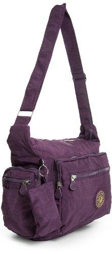 Big Handbag Shop - Bolso cruzados de tela para mujer One verde oliva