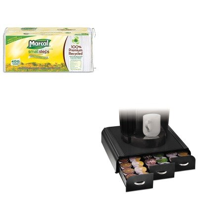 KITEMSTRY01BLKMRC6506 - Value Kit - Ems Mind Reader Llc Anchor K-Cup Coffee Organizer (EMSTRY01BLK) and Marcal 100% Premium Recycled Luncheon Napkins (MRC6506) by Ems Mind Reader Llc