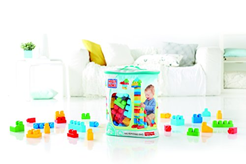 photo Wallpaper of Mega Bloks-Mega Bloks 80 Piece Big Building Bag,-Blue