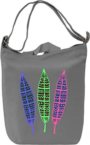 Colourful Feathers Borsa Giornaliera Canvas Canvas Day Bag  100% Premium Cotton Canvas  DTG Printing 