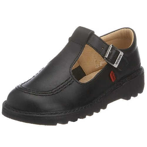 Kickers Girl's Kick T Junior School Shoes Junior 2/34 Black