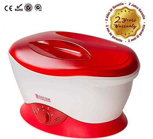 Paraffin Machine - Boston Technology We-101 - Paraffin Wax Warmer Machine For Hands And Feet. Paraffin Bath Used For skin care and Thermotherapy. Helps Relieve Muscle Pain, Rheumatoid Arthritis, Stiff Muscles and Edema