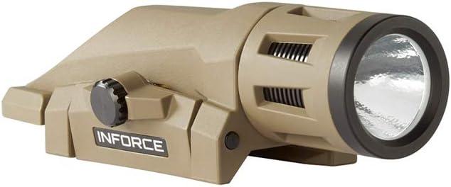 Inforce WML Weapon Mounted Light 400 Lumens Gen 2 White Light Flat Dark Earth Body W-06-1