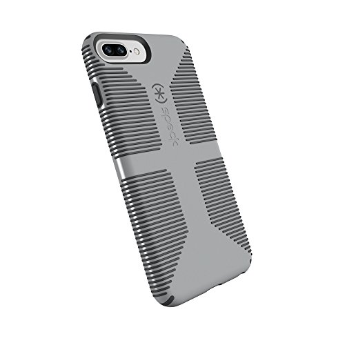 Speck Products CandyShell Grip Cell Phone Case for iPhone 8 Plus/7 Plus/6S Plus/6 Plus - Pebble Grey/Slate Grey