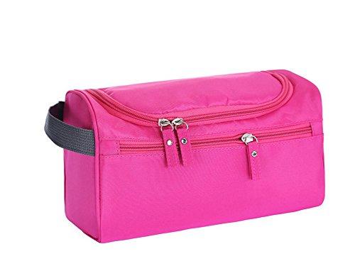 Wine Duffel Rose - Crazy Cart Travel Toiletry Bags Mens Ladies Supply Toiletry Bag Wash Bag (Rose red)