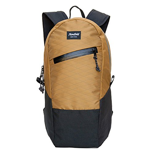 Flowfold Optimist 10L Mini Backpack - Ultra Lightweight Daypack - Made in the USA - Coyote Brown made in New England