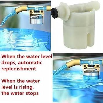 1 / 2 pulgadas de control de nivel de agua bola de la válvula automática polla llenar válvula de accesorios solares depósito de agua: Amazon.es: Electrónica