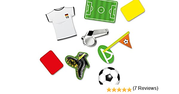 DH-Konzept Paquete de Confeti (24 Unidades, tamaño XXL), con diseño de artículos de fútbol, para Fiesta temática o cumpleaños Infantil: Amazon.es: Hogar