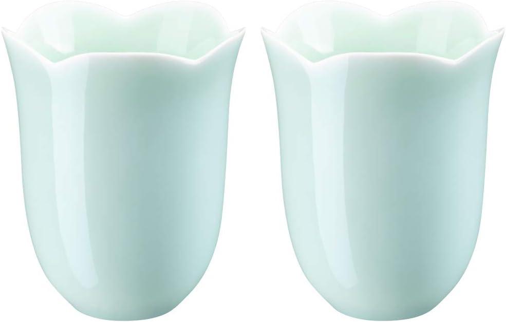 White Matt Celadon Ceramic Cups Set of 4