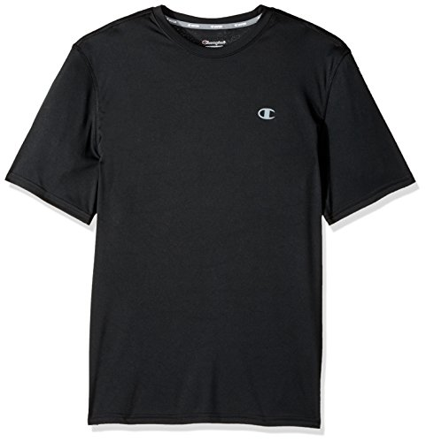 (Champion Men's Double Dry T-Shirt, Black,)