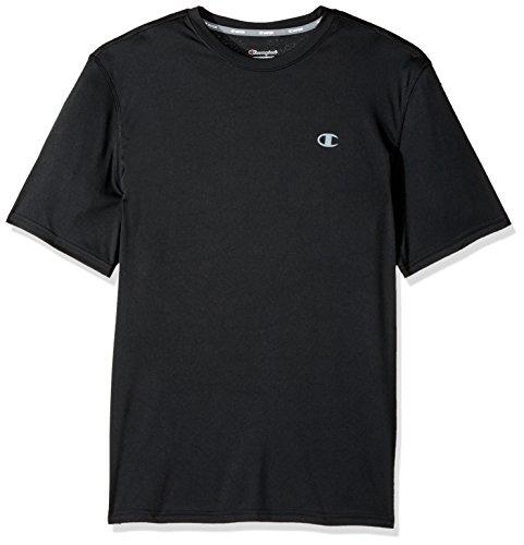 Champion Men's Double Dry T-Shirt, Black, L