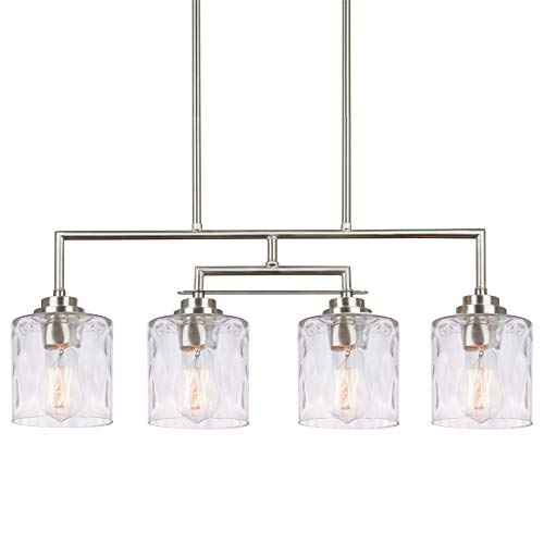Rectangular Pendant Light With Shade in US - 8