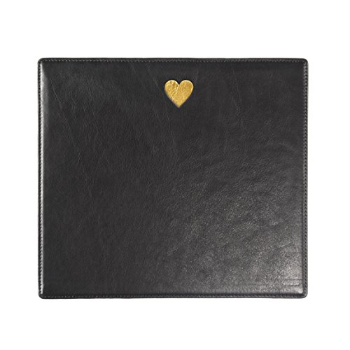 Heart Mouse Pad - Full Grain Leather - Black Onyx (black) by Leatherology