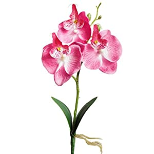 Vovomay Triple Head Artificial Butterfly Orchid Silk Flower,Home Wedding Decor (Pink) 91