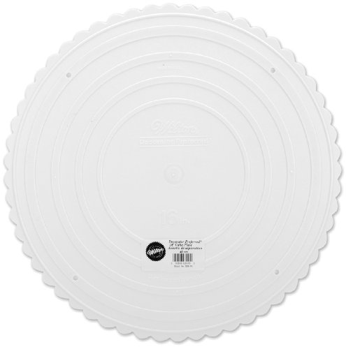 Wilton 302-16 Decorator Preferred Round Separator Plate for Cakes, 16-Inch - Msc Plates