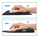 MROCO Mouse Pad with Gel Wrist Rest, Mousepad with Non-Slip PU Base Mouse Pad with Wrist Support Mousepad Wrist Rest Mouse Mat for VicTsing,Pictek,Logitech,Razer Mouse 9.84 X 8.66 inches 3 Pack