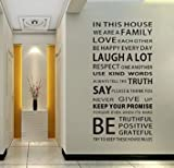 Christmas Gift Holiday Shopping We are Family Quote English Letter Removable Mural Wall Stickers Wall Decal for Living Room Home Decor