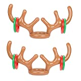 Yexpress Pack of 2 Inflatable Reindeer Antler Ring Toss Game Christmas Party
