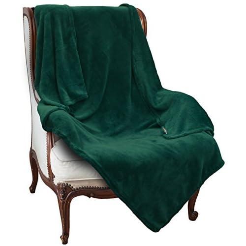 "Wholesale KC Caps Napa Super Soft Plush Fleece Throw TV Blanket Lightweight Travel Blanket Solid 50""x 60"", Green free shipping"