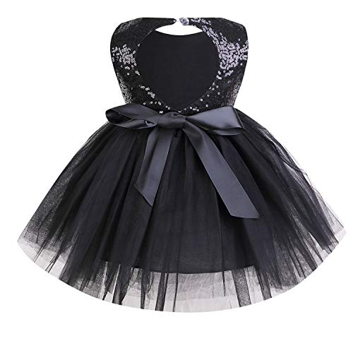 YOUNGER TREE Toddler Baby Girls Dress Sleeveless Sequins Party Dresses Princess Lace Tulle Tutu Dress ()