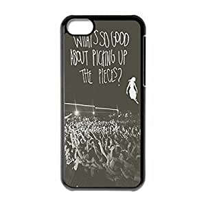 Sophisticated Design Slim Hard Plastic Back Protective Case Shell Cover with Image for iphone 5c - Band pierce the veil Quotes -Black 022702