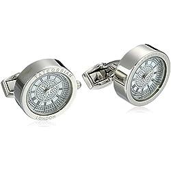 "Tateossian Men's ""Mechanical"" White Big Ben Watch Cufflinks"