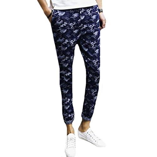 b5735cb6594c 50%OFF MLG Mens Fashion Elastic Waist Regular Fit Camouflage Jean Pants